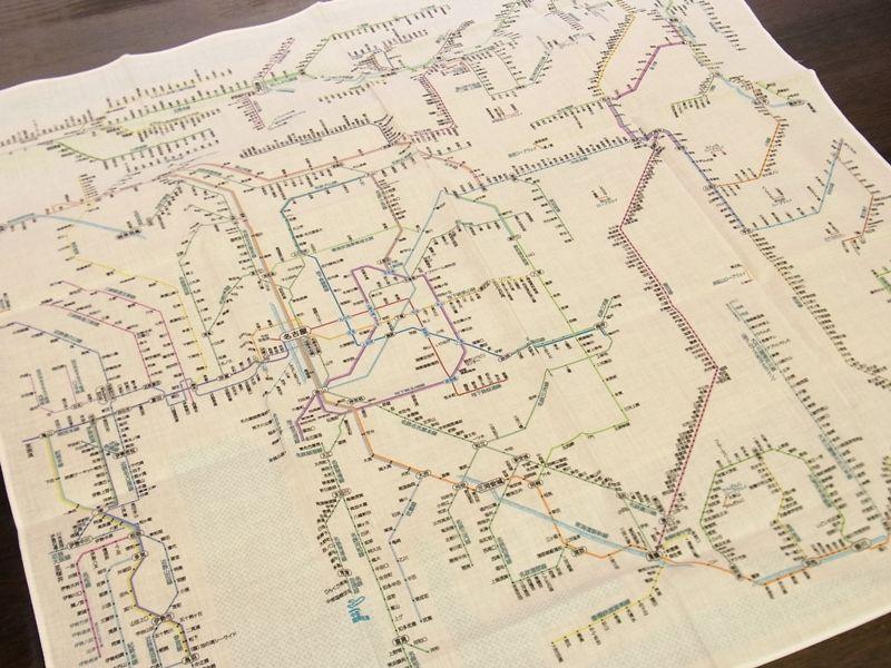 画像3: 【ネコポスOK】 鉄道路線図ハンカチ 中部