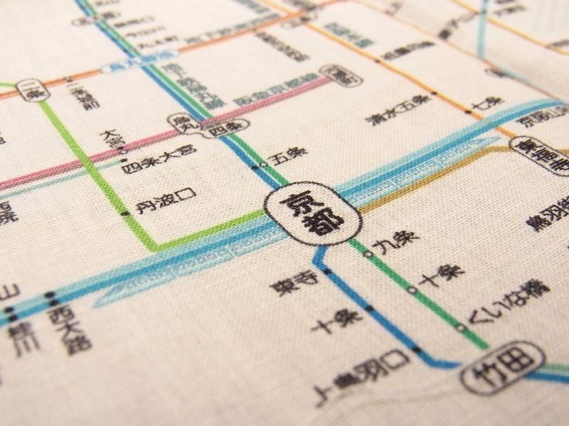 画像4: 【ネコポスOK】 鉄道路線図ハンカチ 関西