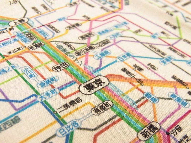 画像4: 【ネコポスOK】 鉄道路線図ハンカチ 首都圏
