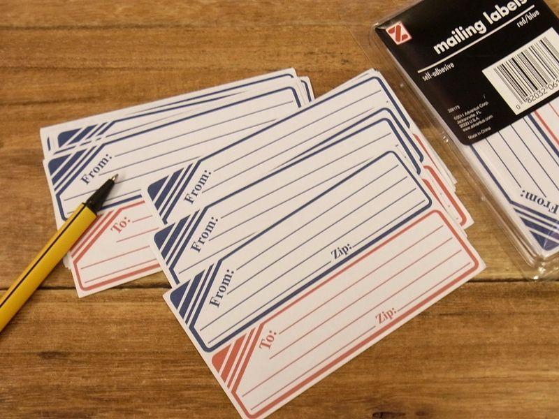 画像1: 【ネコポスOK】 アメリカ Z/ゼット社 mailimg labels 25セット
