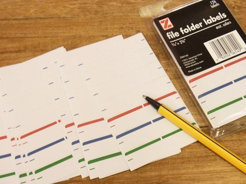 画像1: 【ネコポスOK】 アメリカ Z/ゼット社 file folder labels 126ラベル