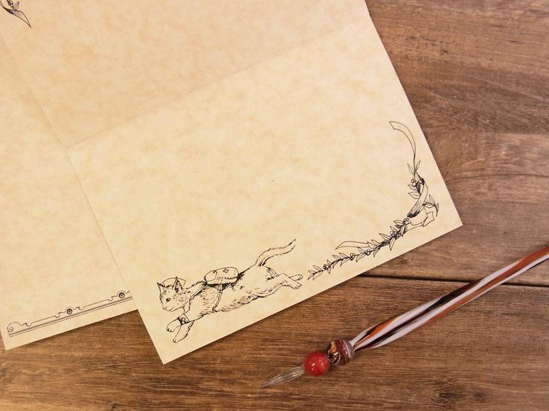 画像3: 【ネコポスOK】 生みたて卵屋 2つ折りカード 猫調剤師の薬局