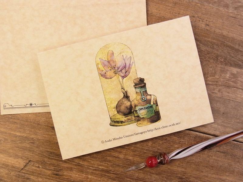 画像2: 【ネコポスOK】 生みたて卵屋 2つ折りカード 薬用植物