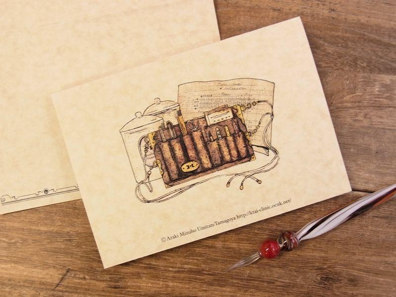 画像2: 【ネコポスOK】 生みたて卵屋 2つ折りカード ナース