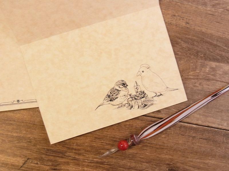 画像3: 【ネコポスOK】 生みたて卵屋 2つ折りカード 小鳥医院