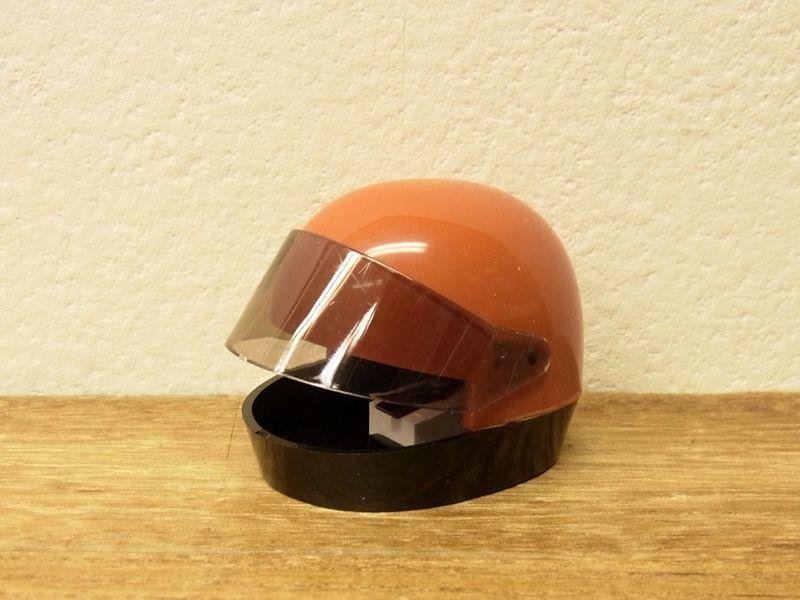 画像1: 【ネコポスNG】【デットストック】 西ドイツ KUM ヘルメット型シャープナー オレンジ