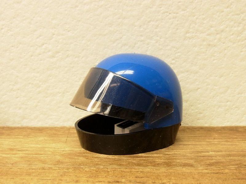 画像1: 【ネコポスNG】【デットストック】 西ドイツ KUM ヘルメット型シャープナー ブルー