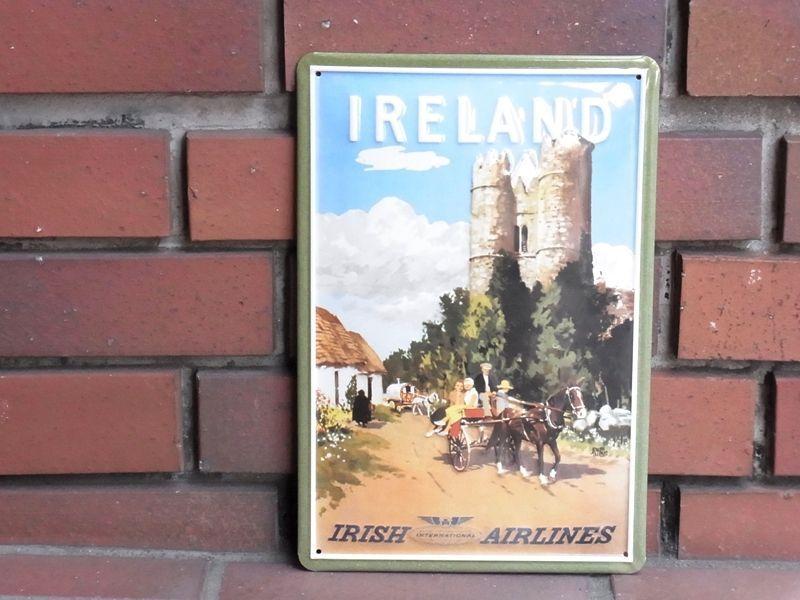 画像1: 【ネコポスNG】 3D METAL POSTER/Steel Sign アイルランド アイリッシュエアラインズ