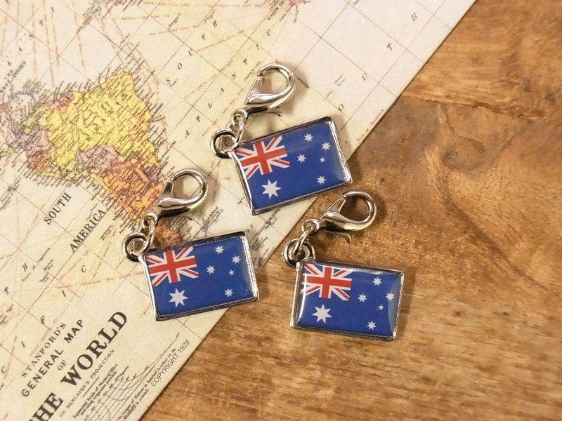 画像4: 【ネコポスOK】 世界の国旗 チャーム [オーストラリア] 1個