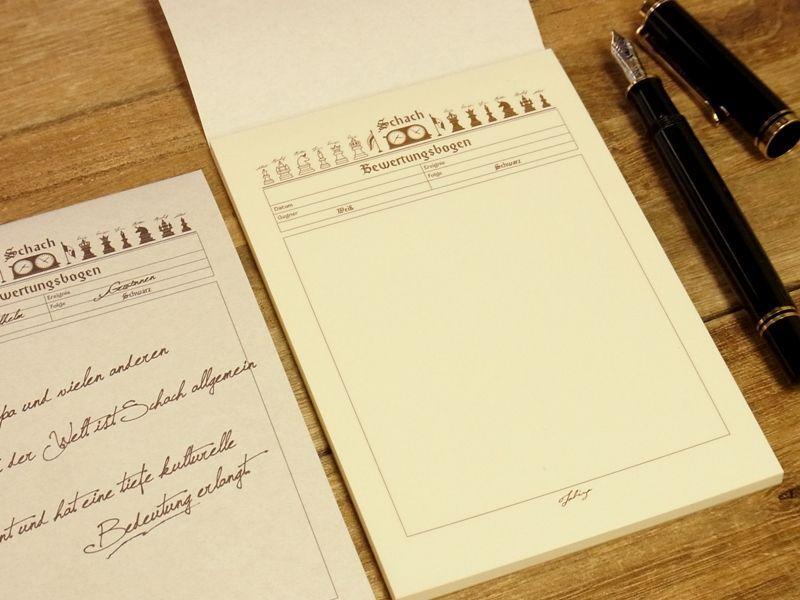 画像2: 【ネコポスOK】 旅屋オリジナル 旅屋萬年筆紙 メモ帳 A6 chess