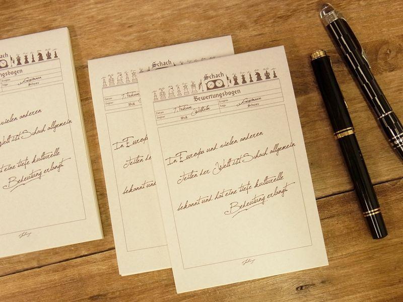 画像1: 【ネコポスOK】 旅屋オリジナル 旅屋萬年筆紙 メモ帳 A6 chess