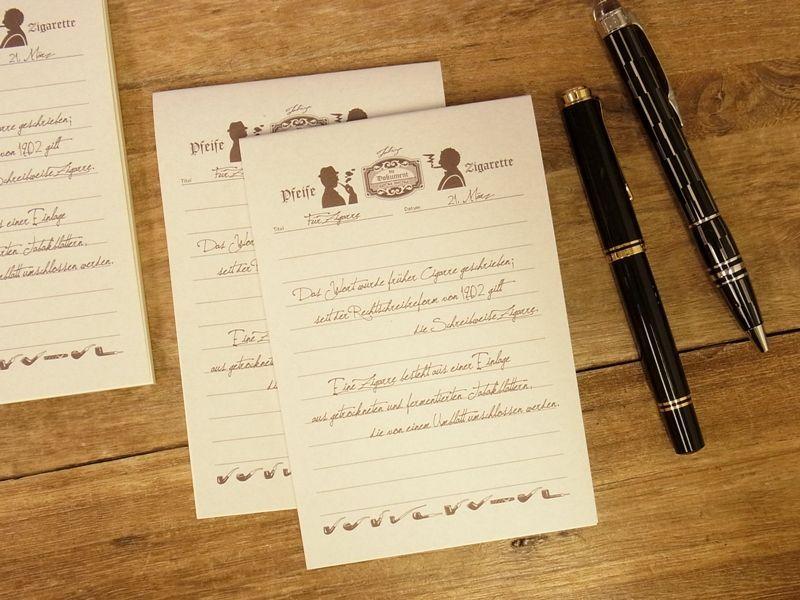 画像1: 【ネコポスOK】 旅屋オリジナル 旅屋萬年筆紙 メモ帳 A6 smoking
