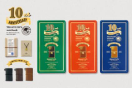 画像5: 【ネコポスNG】 TRAVELER'S notebook/トラベラーズノート ミニ 10周年缶セット 茶