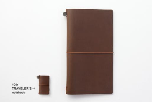 画像3: 【ネコポスNG】 TRAVELER'S notebook/トラベラーズノート ミニ 10周年缶セット 茶