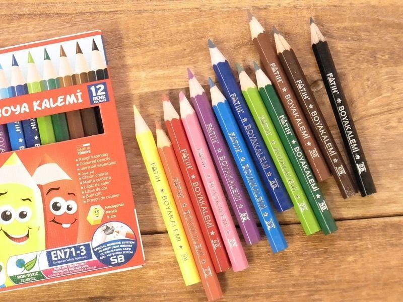 画像2: 【ネコポスOK】 トルコ PENSAN/ペンサン FATIH ハーフサイズ色鉛筆12色