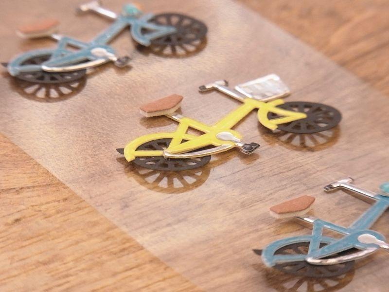 画像2: 【ネコポスOK】 Sticker&Parts Sticker/モチーフ&パーツシール 自転車