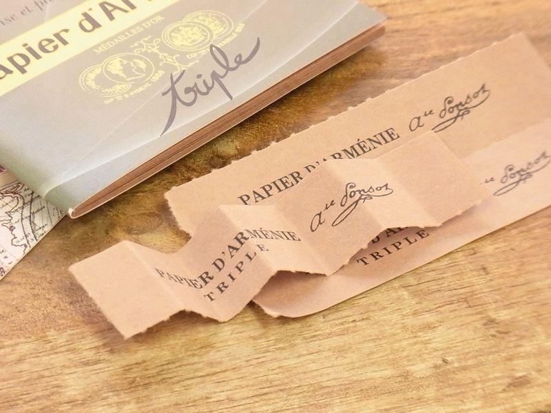 画像2: 【ネコポスOK】 フランス papier darmenie/パピエダルメニイ 紙のお香 トリプル(1個)