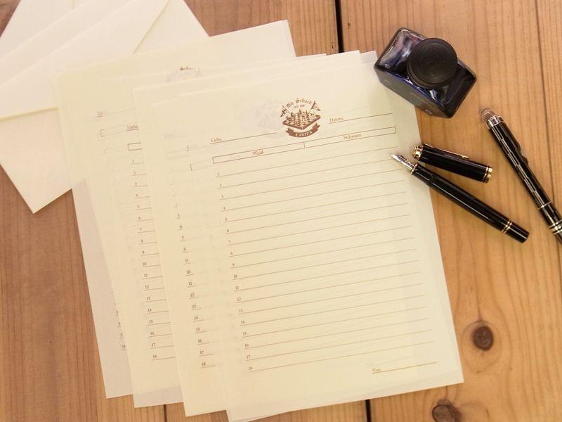 画像2: 【ネコポスOK】 旅屋萬年筆紙 WRITING PAPER Chess 30枚入り