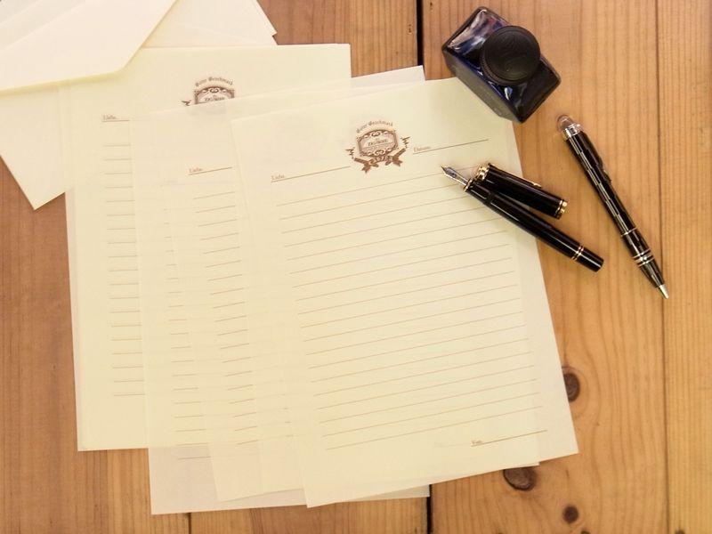 画像2: 【ネコポスOK】 旅屋萬年筆紙 WRITING PAPER Smoking 30枚入り