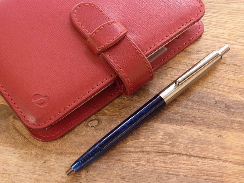 画像1: 【ネコポスOK】【デットストック】 ドイツ Solid/ソリッド ノック式ボールペン ブルー