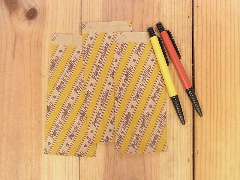 画像1: 【ネコポスOK】 チェコ マルシェ袋 3枚セット