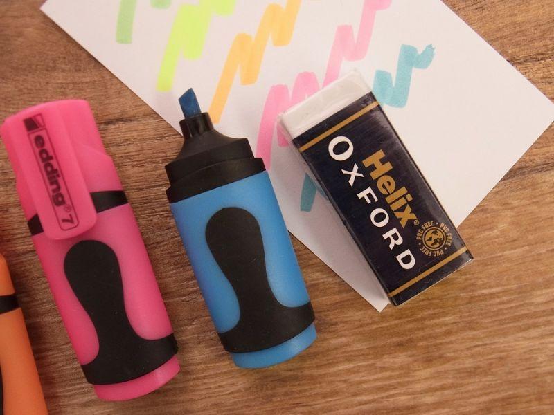 画像2: 【買付け品】【ネコポスOK】 ドイツ edding/エディング mini highlighter/ミニハイライター 5色セット