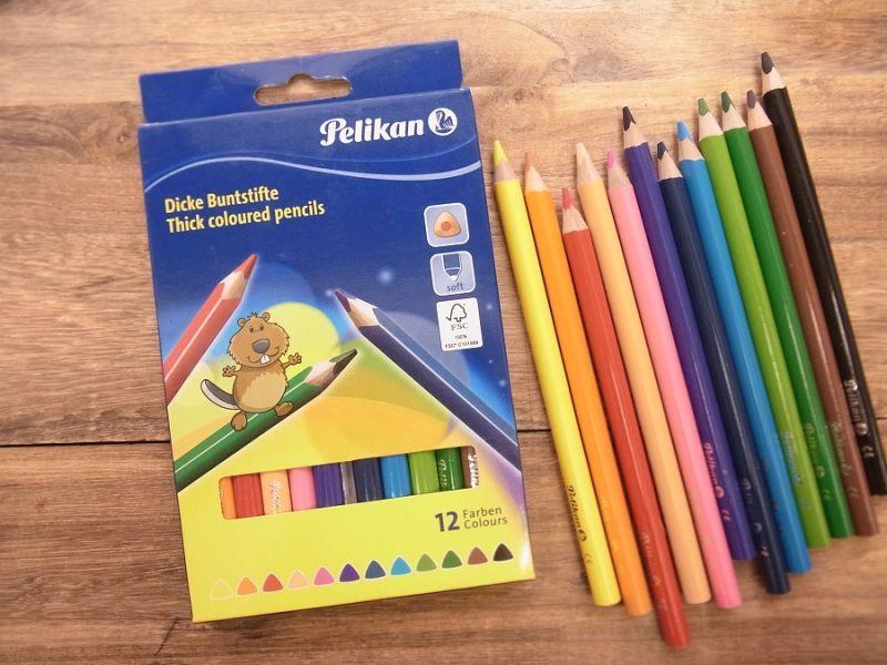 画像1: 【買付け品】【ネコポスOK】 ドイツ Pelikan/ペリカン 色鉛筆12色セット