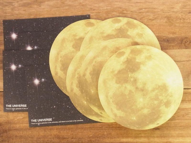 画像1: 【ネコポスOK】 THE UNIVERSE レターセット 月