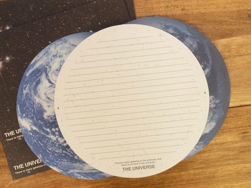画像2: 【ネコポスOK】 THE UNIVERSE レターセット 地球