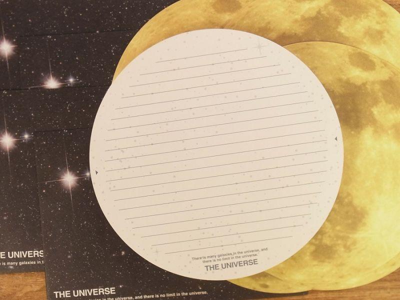 画像2: 【ネコポスOK】 THE UNIVERSE レターセット 月