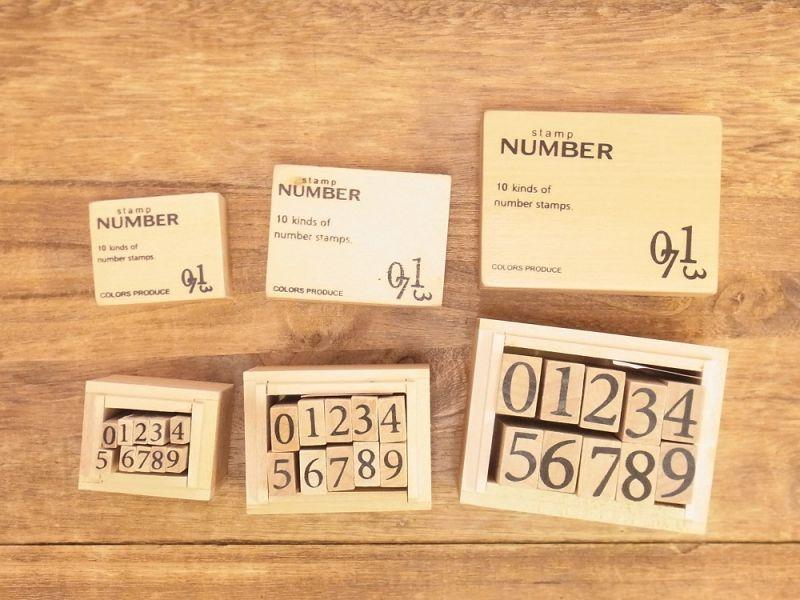 画像2: 【ネコポスNG】 number stamps/ナンバースタンプ(M)