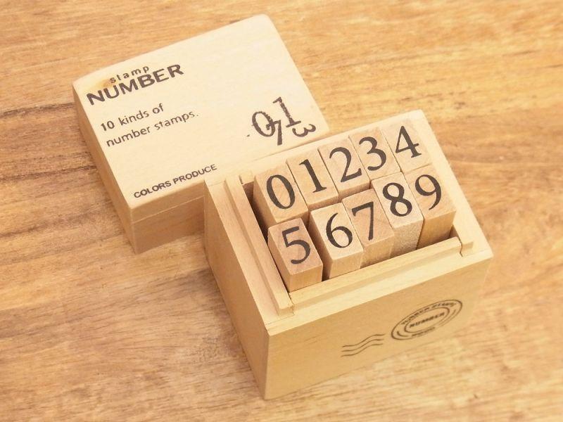 画像1: 【ネコポスNG】 number stamps/ナンバースタンプ(M)