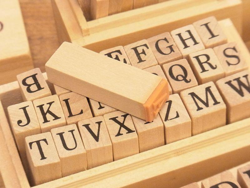 画像3: 【ネコポスNG】 alphabet stamps/アルファベットスタンプ(S)