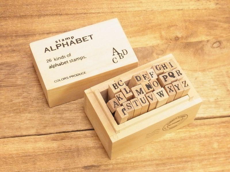 画像1: 【ネコポスNG】 alphabet stamps/アルファベットスタンプ(S)