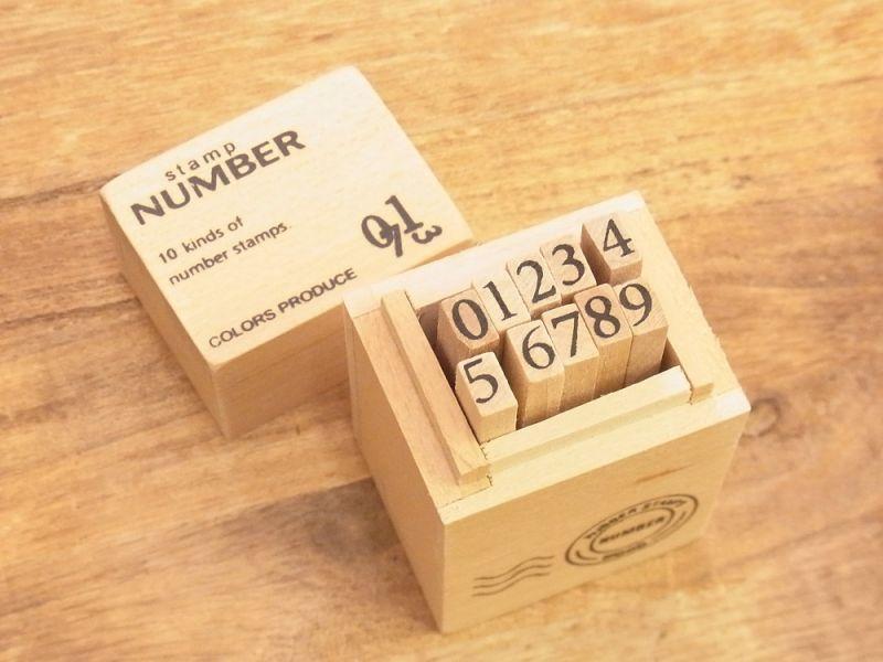 画像1: 【ネコポスNG】 number stamps/ナンバースタンプ(S)