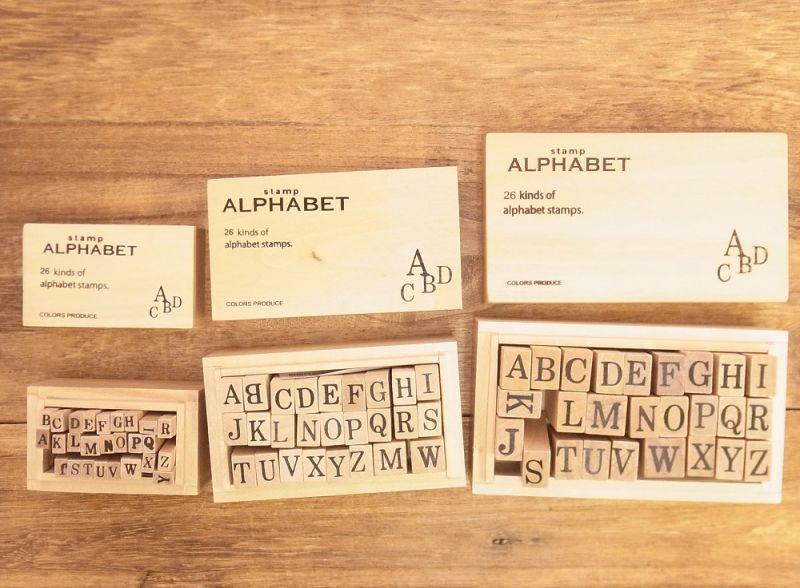 画像2: 【ネコポスNG】 alphabet stamps/アルファベットスタンプ(S)