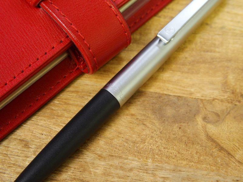 画像2: 【デットストック】【ネコポスOK】 西ドイツ rambold/ランボルド ノック式ボールペン シルバー×ブラック