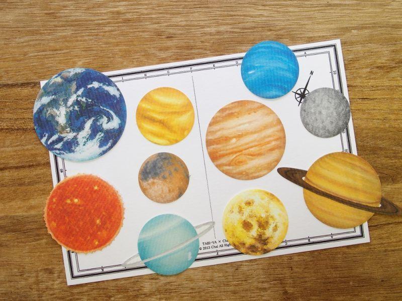 画像1: 【ネコポスOK】 Pictorial sticker/ピクトリアルステッカー 惑星