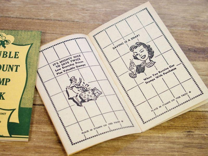 画像1: 【ネコポスOK】 アメリカ DOUBLE DISCOUNT STAMP BOOK/スタンプクーポンブック