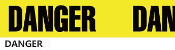 画像2: 【ネコポスNG】 パッキングビニールテープ DANGER