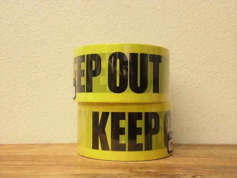 画像1: 【ネコポスNG】 パッキングビニールテープ KEEP OUT