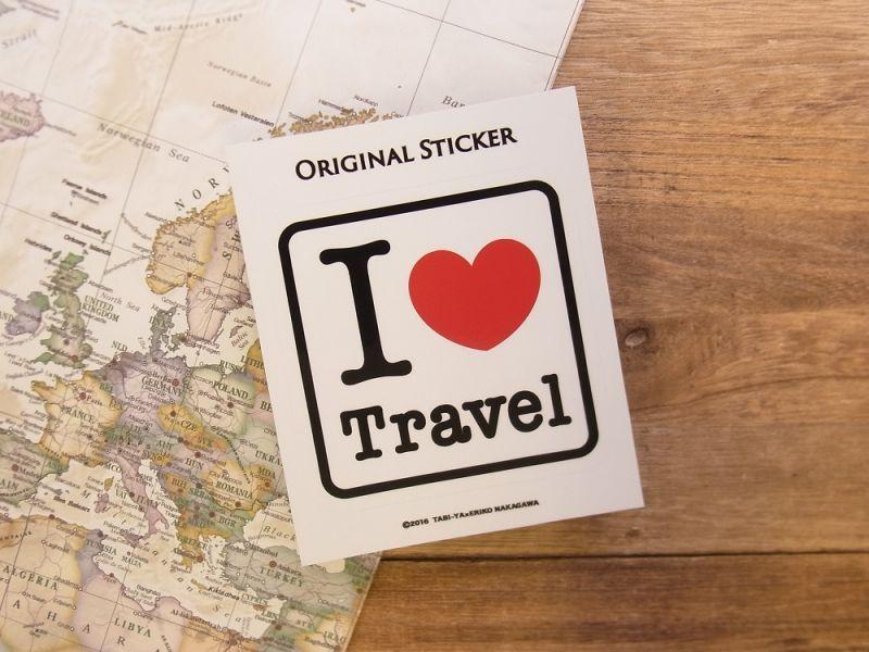 画像2: 【ネコポスOK】 旅屋オリジナル ステッカー I LOVE Travel