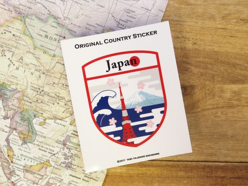 画像2: 【ネコポスOK】 旅屋オリジナル Country Sticker Japan/日本