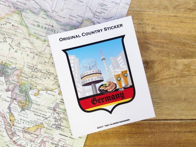 画像2: 【ネコポスOK】 旅屋オリジナル Country Sticker Germany/ドイツ