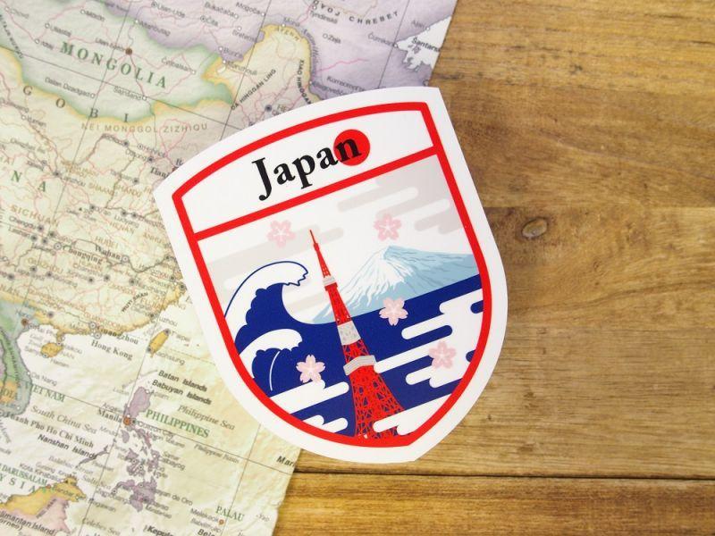画像1: 【ネコポスOK】 旅屋オリジナル Country Sticker Japan/日本