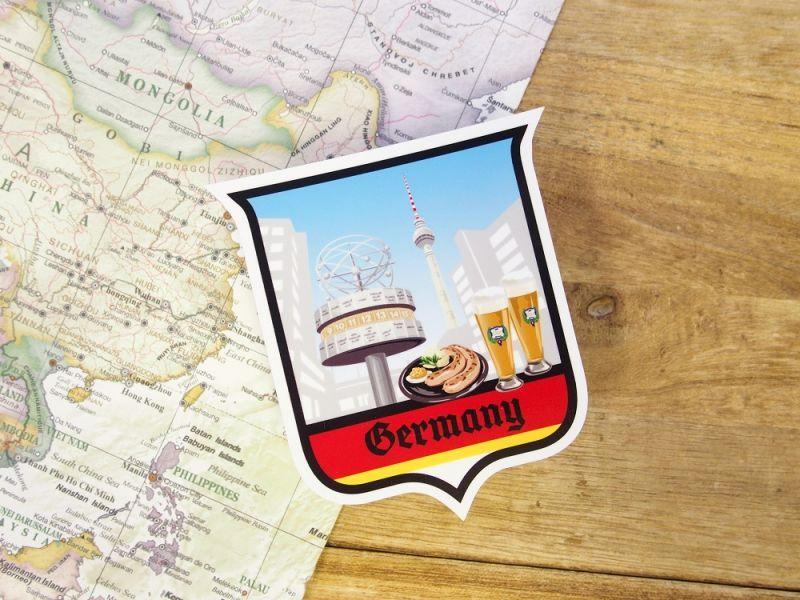 画像1: 【ネコポスOK】 旅屋オリジナル Country Sticker Germany/ドイツ
