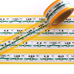 画像2: 【ネコポスOK】 TRAINIART/トレニアート マスキングテープ 総武線