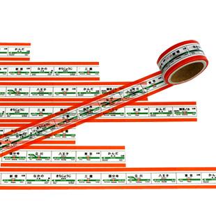画像2: 【ネコポスOK】 TRAINIART/トレニアート マスキングテープ 中央線