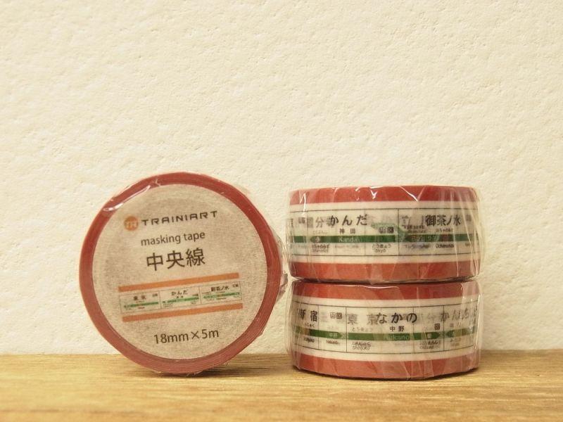 画像1: 【ネコポスOK】 TRAINIART/トレニアート マスキングテープ 中央線