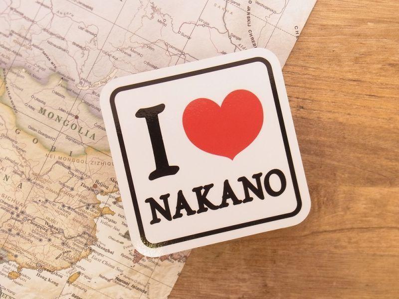 画像1: 【ネコポスOK】 旅屋オリジナル ステッカー I LOVE NAKANO